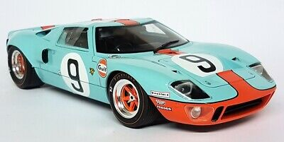 Solido 1/18 Scale - Ford GT40 Gulf Le Mans 24H 1968 #9 Diecast Model Car • 69.99£