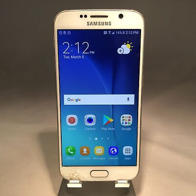 $ CDN78.90 • Buy Samsung Galaxy S6 32GB White Pearl Unlocked Cracked Screen Fully Functional