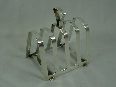 SOLID Silver TOAST RACK, 1937, 55gm • 0.99£