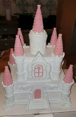 Large Princess Castle Pink And Sparkly Money Box Piggy Bank Girls - Boxed • 19.99£