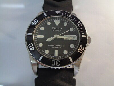 $ CDN101.27 • Buy Seiko Diver Mens Watch Day & Date Auto 7s26-0050 Skx023j  10 Bar Sn. 751337