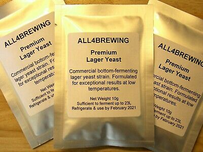 Premium Lager Yeast 10g Sachet For Home Brewing Beer Commercial Brewers Yeast • 2.15£