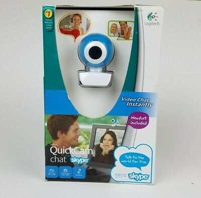 Logitech Quickcam Video Chat Web Cam Skype Headset Included  Open Box • 10.44£