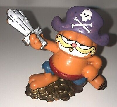 Vintage Garfield Pirate Figure - Bully West Germany 1978,1981 • 3£