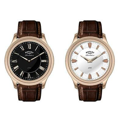 Rotary Mens Revelation Watch With Reversible Dial Rose Gold Brown GS02967/06/10 • 199.99£
