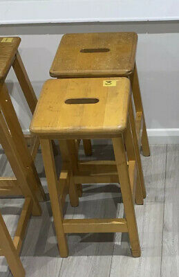 Wooden Lab Stools- A Few Different Styles & Sizes Left. • 30£