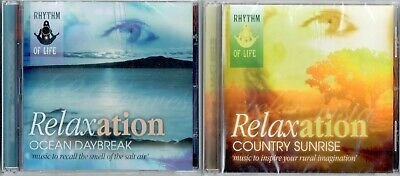 Relaxation CDs ~ Ocean Daybreak + Tranquility NEW & SEALED Bargain Gift Idea • 4.95£