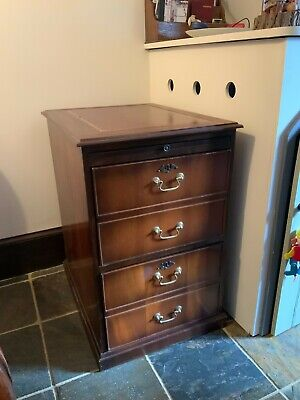 Vintage Wooden Filing Cabinet A 4 Size In Mahogany Good Condition  • 80£