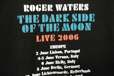 £14.79 • Buy *new* Roger Waters Dark Side Of The Moon Live Tour 2006 T Shirt + Venues Mens M
