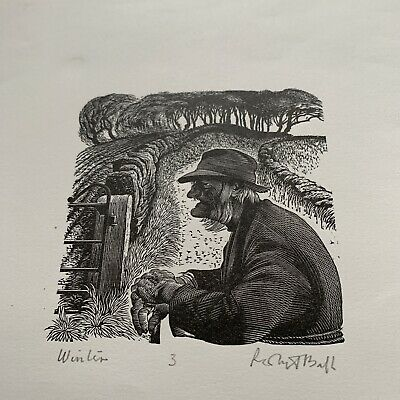 Two Wood Engravings Signed Limited Robert Ball Farming • 34.99£