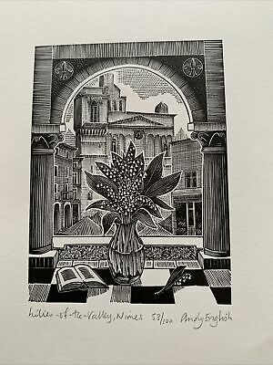 Signed Limited Edition Wood Engraving Andy English Nimes • 29.99£
