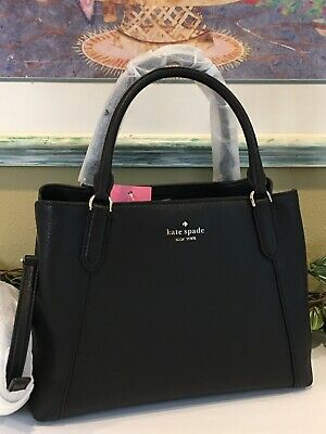 $ CDN183.26 • Buy Kate Spade Jackson Medium Satchel Triple Compartment Bag Black Leather $379