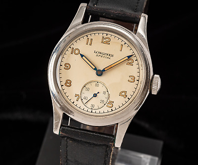 $ CDN541.79 • Buy Vintage Longines Special 6 Notches, Stunning Dial, From 1947! No Reserve!