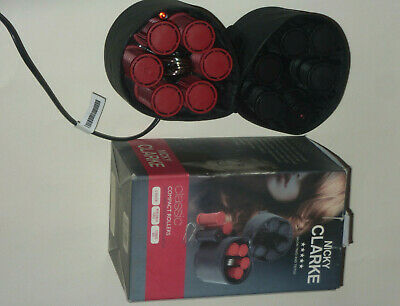£24.95 • Buy Nicky Clarke Compact Travel Heated Hair Rollers Curlers **vgc**