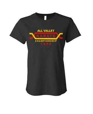 $14.99 • Buy ALL VALLEY KARATE TOURNAMENT - 80's Retro - LADIES Cotton T-Shirt