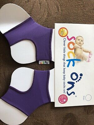 Sock Ons Size 0-6 Months Purple NEW • 2£