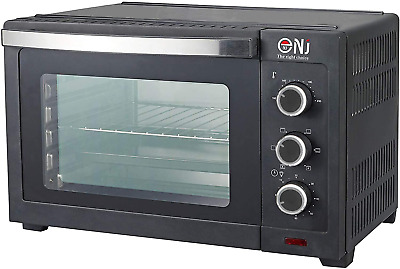 30L Mini Convection Oven Electric Toaster Bake Kitchen Compact Timer 1600W Black • 106.50£
