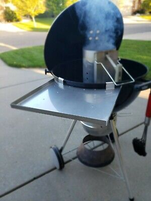 $ CDN50.63 • Buy Side Table Tray Accessory For 22  Weber Charcoal Kettle Grill-Edges Folded Up