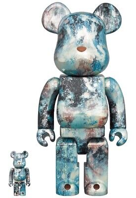 $320 • Buy Medicom BE@RBRICK PUSHEAD # 5 Silver 100 & 400 2020 Bearbrick NEW JAPAN Limited