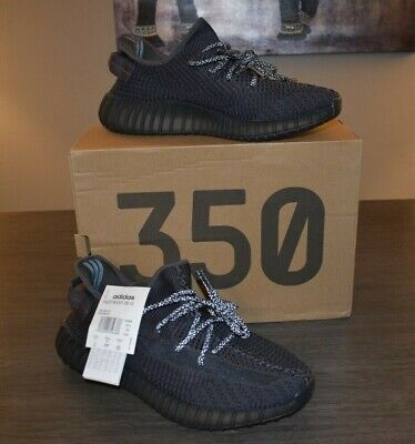 $ CDN327.74 • Buy New Adidas Yeezy Boost 350 V2 Black Non Reflective With Reflective Laces Sz 11