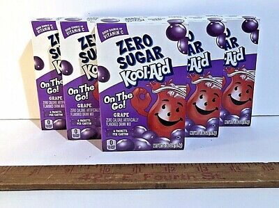 Kool Aid On The Go Zero Sugar Grape Drink Mix Singles (Lot Of 6) Hard To Find! • 20.59£