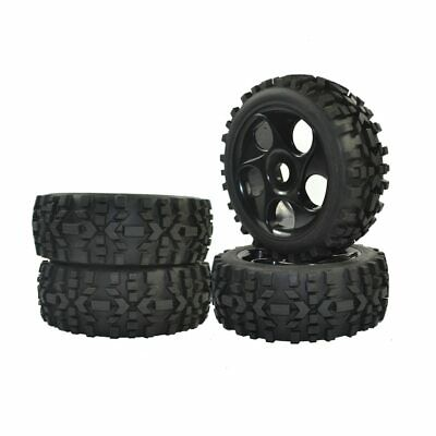 4PCS RC 1/8 Scale Off Road Car Buggy RC Tyre Set Tires Wheels Rim • 19.99£