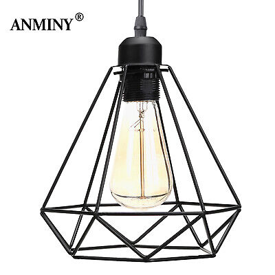 £8.99 • Buy Industrial Wire Cage Ceiling Light Retro Metal Pendant Lamp Shade + Light Holder