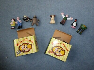 1989 Wallace & Gromit The Wrong Trousers Shaun Sheep Collectable Set Figures Toy • 4.99£