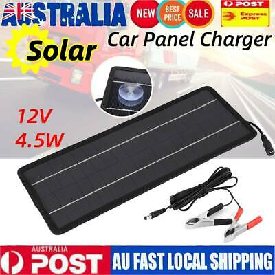 AU25.98 • Buy 4.5W Solar Panel Battery Charge Kit 12V Trickle Charger For Car Boat Caravan