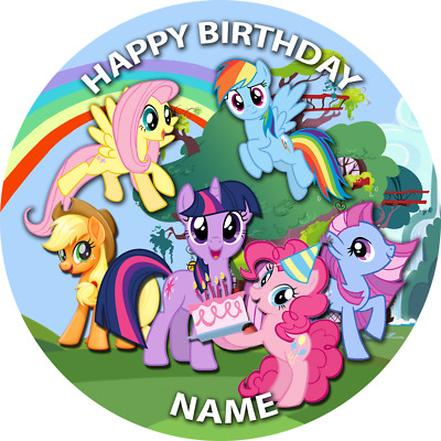 1 X 7.5   My Little Pony PERSONALISED Wafer Card Cake Topper • 2.99£