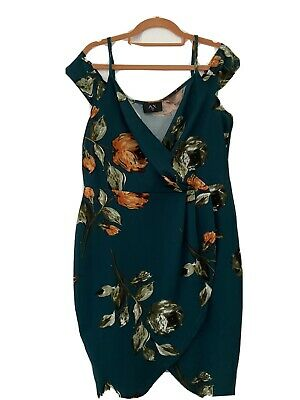 AX Paris Green Floral Midi Dress, Size 16 • 2£