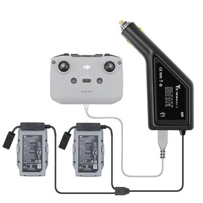 AU29.99 • Buy 3 In 1 Car Charger Dual Battery Charger With USB Port For DJI Mavic Air 2 Drone
