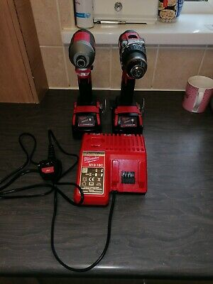 Milwaukee M18 Cblid 18V Impact & M18 Cblpd Combi Drill Set With Charger  • 150£