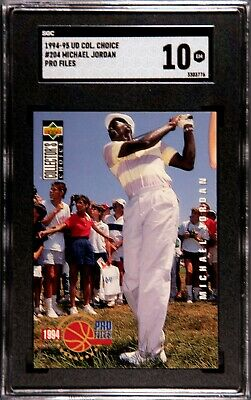 $49.99 • Buy SGC Gem Mint 10  Graded  1994-95 Collector's Choice #204 Michael Jordan  Golf