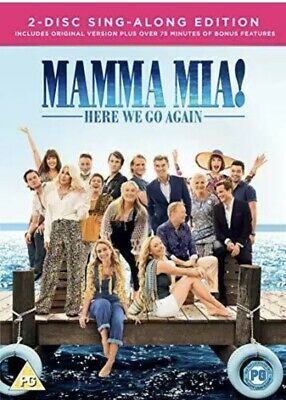 Mamma Mia! Here We Go Again  2 Disc Sing Along Edition * New & Sealed * • 2.89£