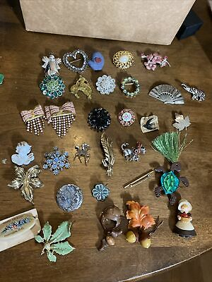$ CDN8.55 • Buy Large Lot Vintage Brooches 30+ Different Kinds