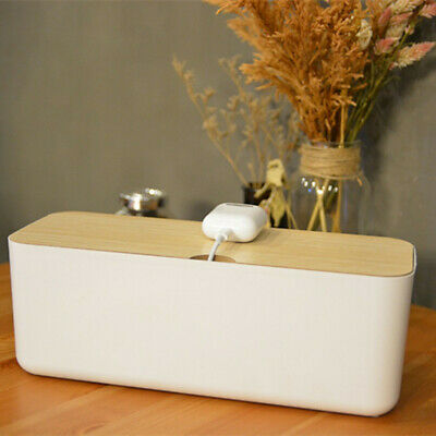 Power Strip Cord Wire Management Socket Cable Tidy Box Cable Storage Box Case • 11.39£