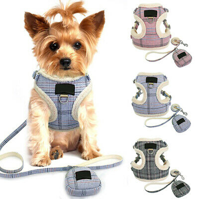 £5.50 • Buy Warm Dog Harness And Lead Winter Pet Cat Puppy Vest Clothes Coats For Chihuahua