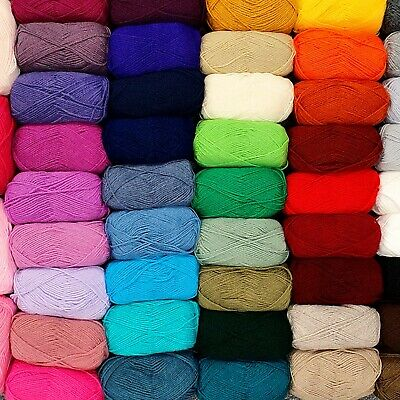 DK Knitting Yarn 50g Ball Double Knit Acrylic Wool Baby High Quality 50+ COLOURS • 1.09£