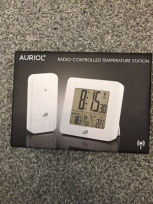 Auriol Radio Controlled Temperature Station With MSF Signal German Made  WHITE • 15£