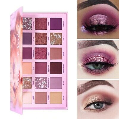 AU17.42 • Buy Beauty Nude Eyeshadow Palette Glitter 18 Colors Pink Makeup Cosmetics Waterproof