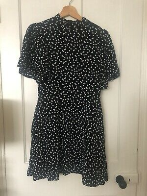Zara Sold Out Polka Dot Dress. Amazing Sleeves. Bloggers. Size M • 8£