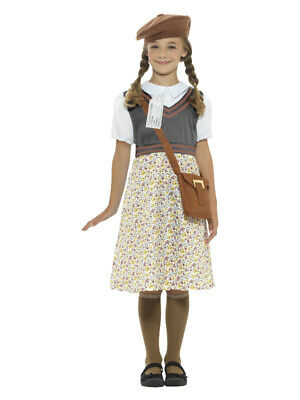 Evacuee School Girl Costume, Grey • 18.72£