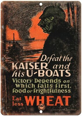 $18.95 • Buy US Food Administration WW2 War Poster 12  X 9  Reproduction Metal Sign M83