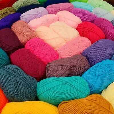 EVERY SHADE HIGH QUALITY DK KNITTING YARN 50g Ball Double Knit Baby Acrylic Wool • 2.25£