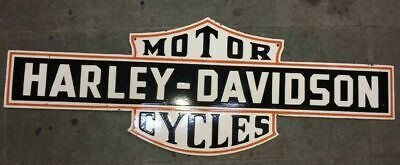 $ CDN117.61 • Buy Porcelain Harley Davidson Enamel Sign Size 50  X 18  Inches Double Sided Pre-Own