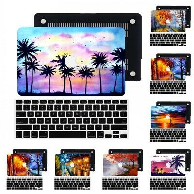 $22.31 • Buy 2in1 Oil Landscape Rubberized Hard Cut Out Case KB Cover For New Macbook Pro Air