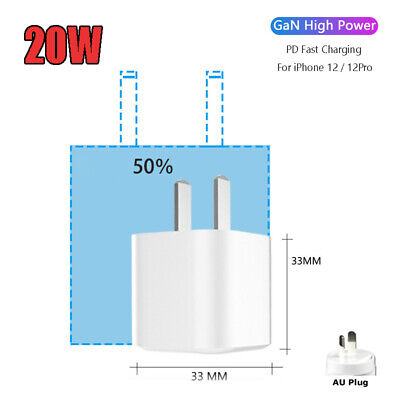 AU18.88 • Buy GaN 20W Nano Mini USB C PD 3.0 III For IPhone 12 Pro Max Fast Charger / AU Plug