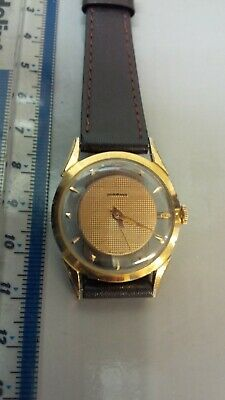 £95 • Buy Mid Size Marvin Gold Plated Strap Watch, With Visible Movement.Mechanical.