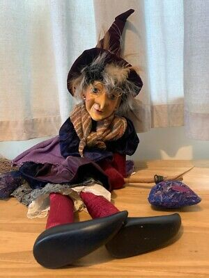 Witches Of Pendle, Flying Althea, Purple With Red Legs, Side Saddle Broom Flying • 30£
